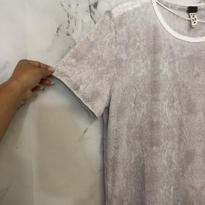 Free People Tops - Free People Pink Snake Pattern T-Shirt NWT